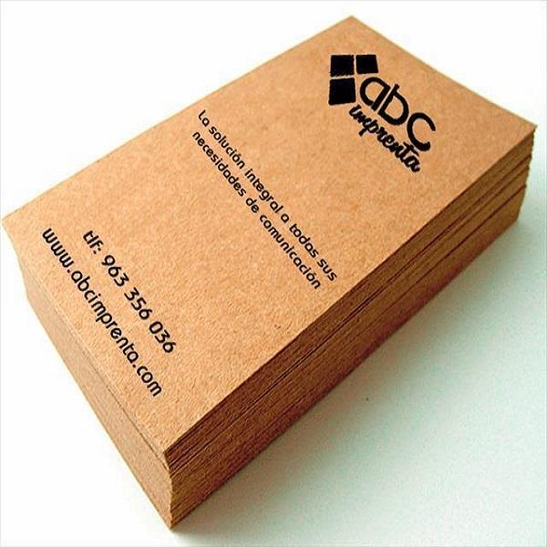 tarjetas con letras negras