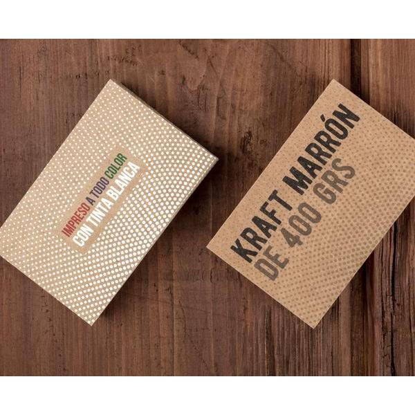 tarjetas de visita Impresión sobre kraft