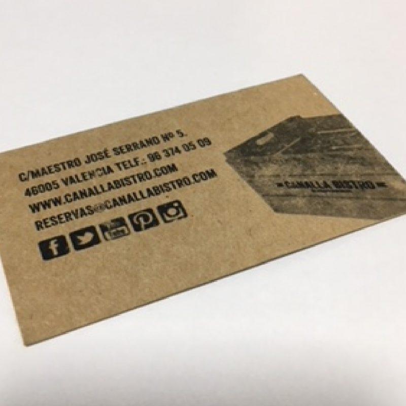 tarjeta de visita bistró